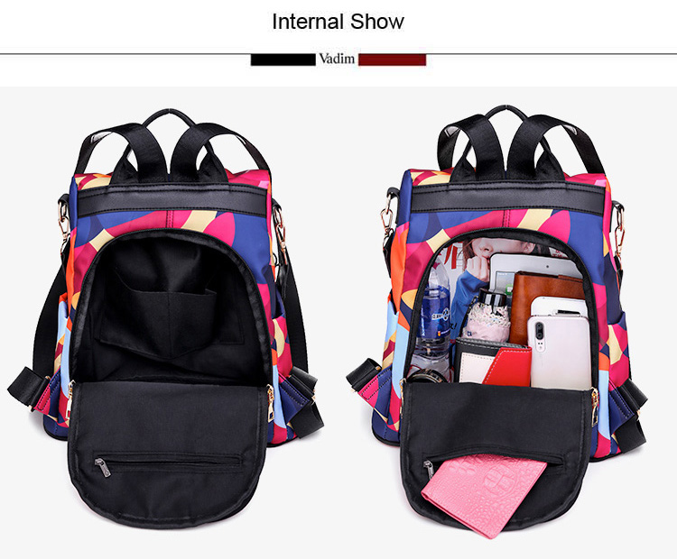H3f7217d41ffa4b48b60d2f5e2addcac25 - Vadim New Fashion Women Backpacks  Waterproof Oxford Backpack Female Anti Theft Bagpacks School Bags for Girls Mochila Mujer