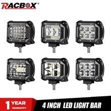 18W 60W 72W 4 pouces lumière LED barre de travail projecteur Combo faisceau 12V 24V pour UAZ camion 4X4 ATV SUV UTV LED conduite lampe de travail brouillard