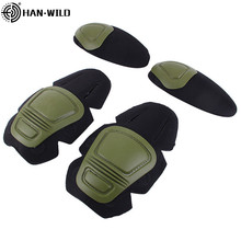 Knee Pads & Elbow Support for G2 G3 Frog Suit Military Tactical Paintball Airsoft Kneepad Interpolated Knee Protector Set