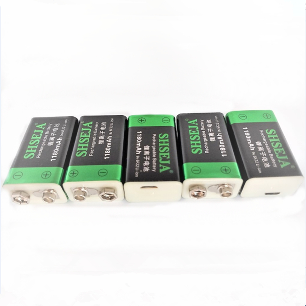 9V 1180mAh Lithium Ion Battery USB Rechargeable Battery Detector Toy Line Finder Rechargeable Battery Free Shipping