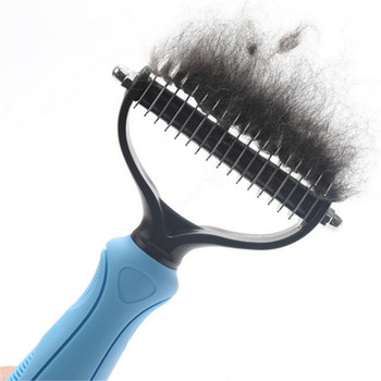 Pet Grooming Brush Pet Dog Hair Remover Cat Grooming Brush Dog Flea Comb Cleaning Supplies Pets Fur Shedding Finishing Combs pet comb cleaning tool lice brush pet supplies cat dog comb hair fur removal brush flea comb dogs cats pet grooming fine toothed