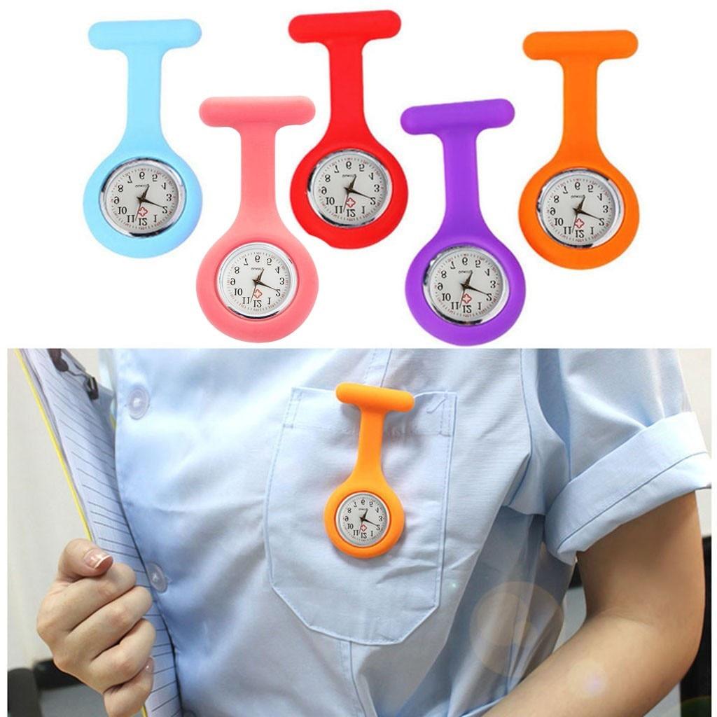 Moda bolso relógios silicone enfermeira relógio broche túnica fob relógio com bateria livre relógios unisex zegarek damski