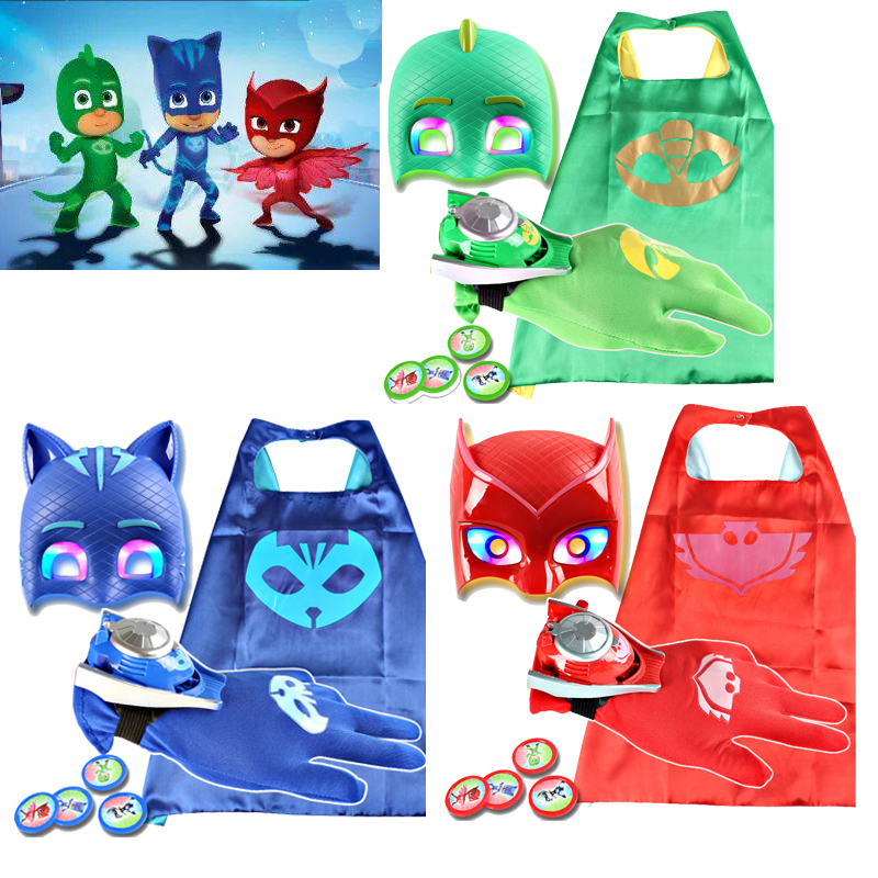 PJ Masks Watch Launcher Toy Children's Pajamas Performance Costume Party Cosplay Clothes Children's Toys Gifts For Children