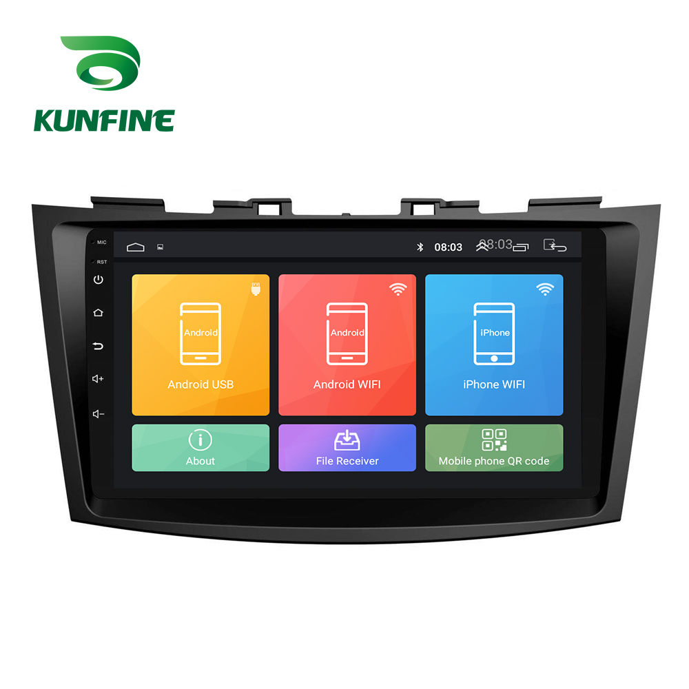 Octa Core Android 8.1 Car DVD GPS Navigation Player Deckless Car Stereo for Suzuki SWIFT 2011 2012 2013 2014 2015 2016 Radio