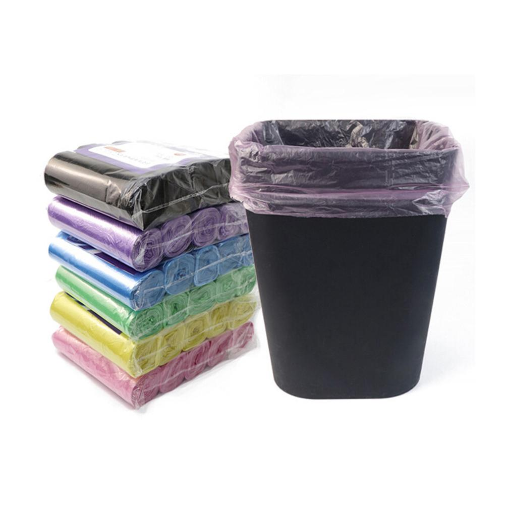 5 Rolls Household Plastic Garbage Bag Roll Cover Disposable Rubbish Bin Liner Home Waste Trash Storage Container Garbage Bags