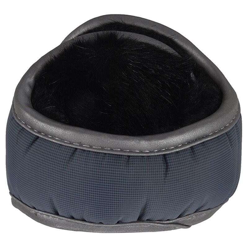 New Men / Women's Winter Fleece Compact Ear Muff Warmer Gray
