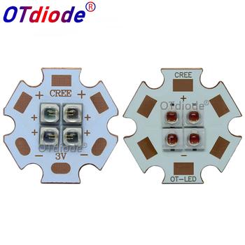 EverLight 3535 4 żetony 4-LEDs 3V6V12V 10W podczerwieni IR 850nm 940nm 730nm LED emiter wysokiej mocy diody z 20mm miedzi PCB tanie i dobre opinie OTdiode Piłka 10W 940nm 850nm 730nm LED 12 v 350mA