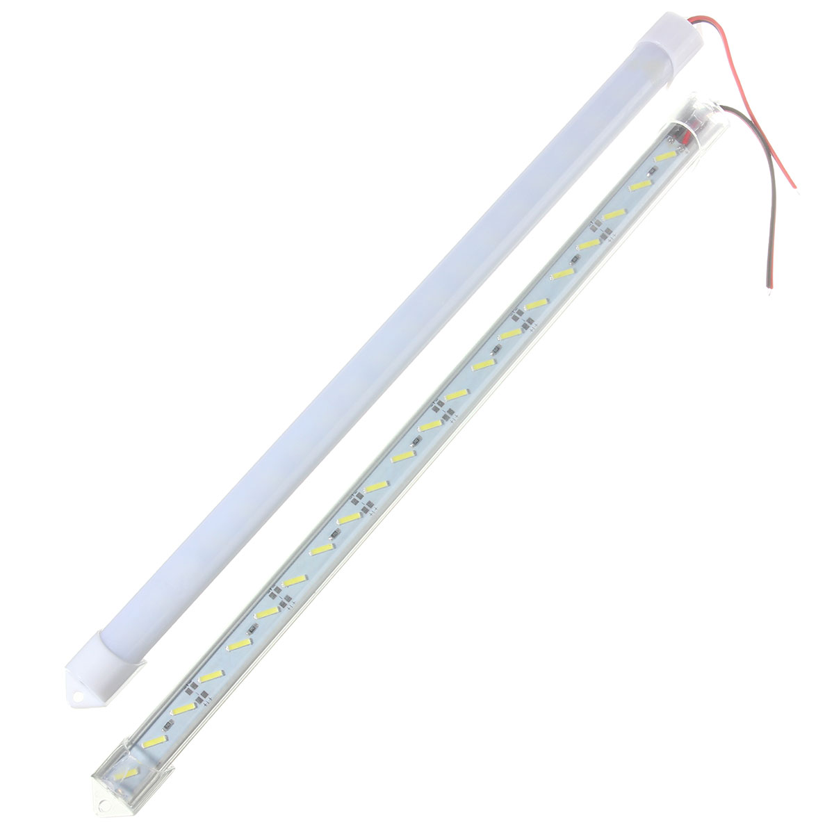 30cm U shell Profile 8520 LED rigid Strip 36leds led strip bar for cabinet closet kitchen with cover double chip supper bright