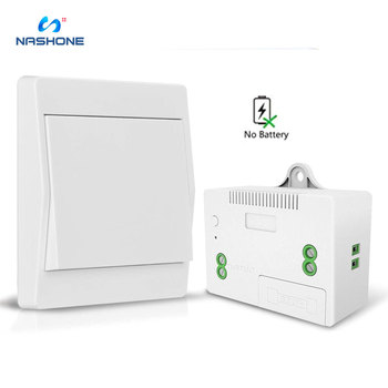 цена на Nashone RF Wireless Light Switch Kit No Battery Remote Control Self Powered AC 85V~250V Wireless Wall switch No Wiring No WiFi