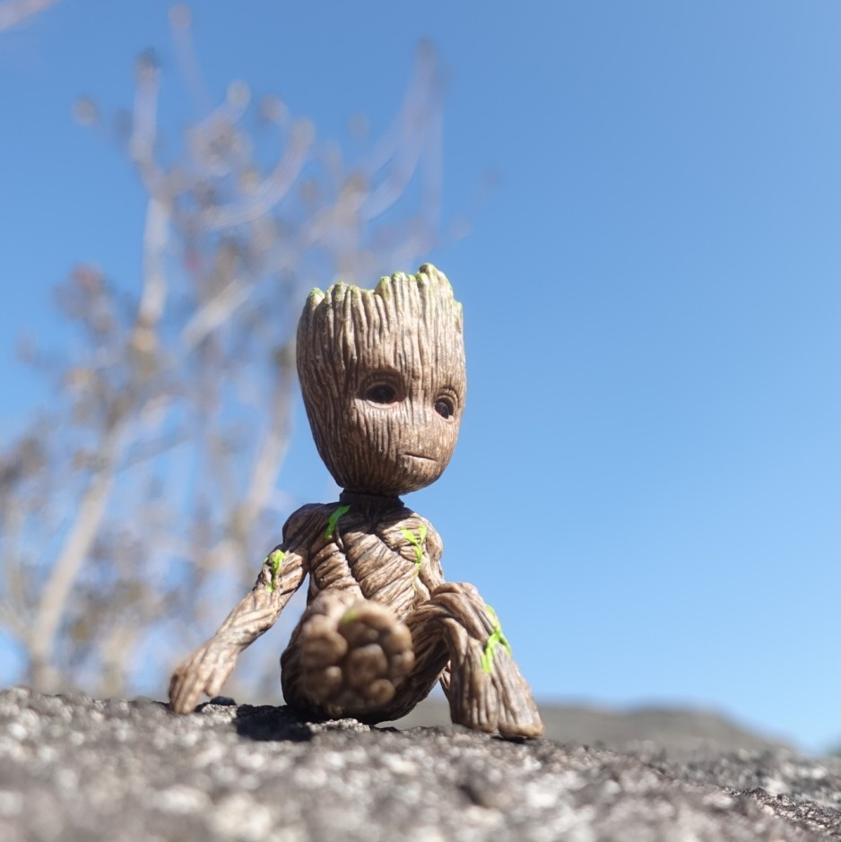 8cm Tree Man Groot Sitting Collectible Anime Cute Model Toy PVC Cartoon Mini Action Figure Keychains Model Gifts