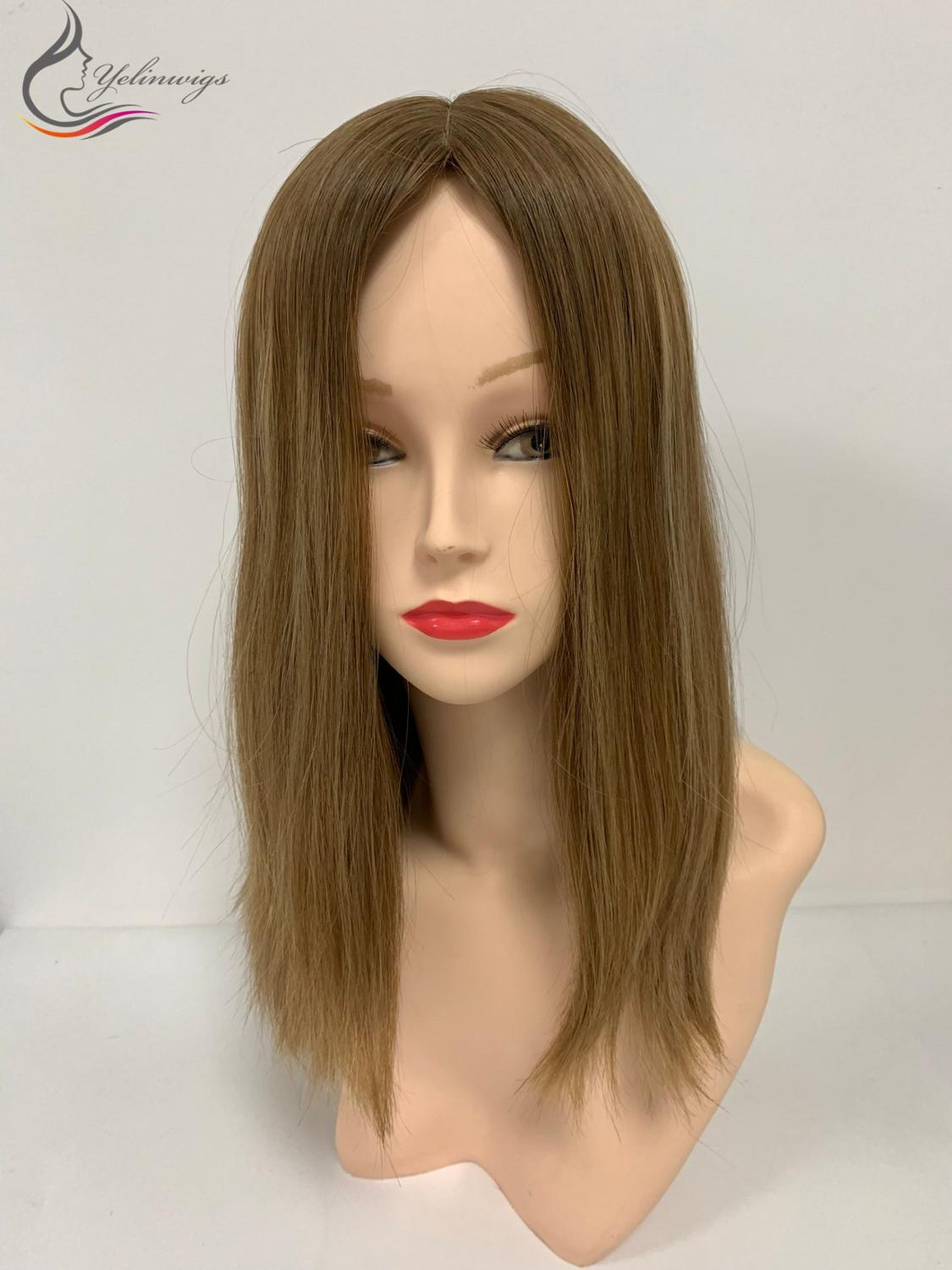 Natural Jewish Kosher Wig 100% High Quality Silk Top Layer European Virgin Hair Wigs With Body