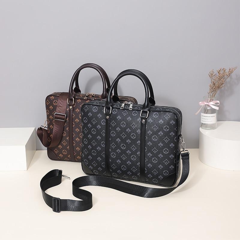 New Men's Handbag Business Men's Real-Leather Bag Men's Single-Shoulder Bag Briefcase Computer Bag