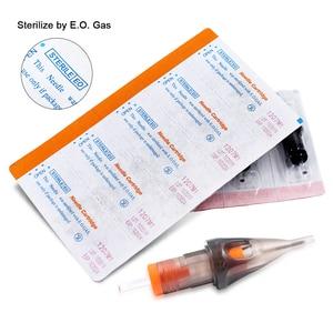 Image 5 - 50pcs Hot Sale Disposable Tattoo Cartridge Needles Semi Permanent Makeup Eyebrow Tattoo Pen Machine Supply RL/M1/RM/RS