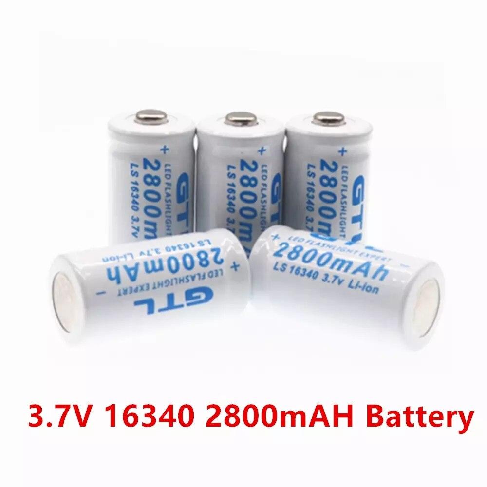 Литиевая аккумуляторная батарея для лазерной ручки 2020 в 3,7 мАч 2800 CR123A CR123 16340 в 3,7 новый бренд|Перезаряжаемые батареи| | АлиЭкспресс
