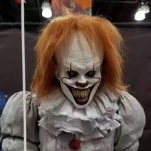 Deluxe Pennywise Clown IT capitolo 2 maschera Cosplay Joker Halloween Fancy Party Prop