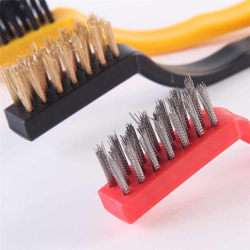 3 stks/set creatieve gasfornuis borstel staalborstel keuken gereedschap metalen fiber borstel sterke decontaminatie Diepgaande kleine hiaten schoon
