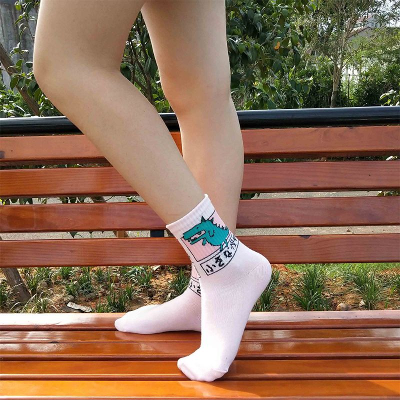 new collection hot products pre order 3Pairs Harajuku Women Girls Hip Hop Long Socks Cute Animal ...