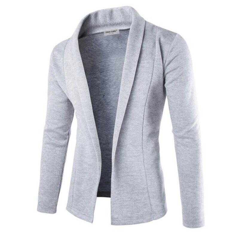 Men's Light Jacket Light Suit Collar Hoodie White Grey Black Jacket Gentleman's Business Windbreaker Street Coat Man M-XXL