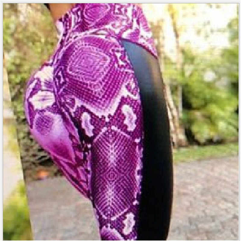 Legginsy z wysokim stanem fitness, żeński, moda wąż drukuj legginsy damskie stretch ćwiczenia legginsy gotycka modis legginsy mujer
