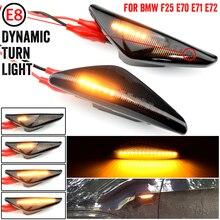 2Pcs sequenziale dinamico che scorre LED indicatore di direzione laterale indicatore di direzione lampeggiante per BMW E70 X5 F25 X3 E71 X6 2007 2013