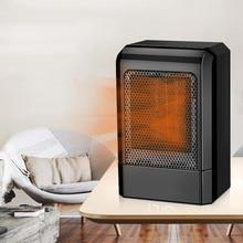 500 Вт мини электрический обогреватель вентилятора PTC керамический быстро нагревательный обогреватель для офиса Настольный конвектор маленький портативный Электрический обогреватель