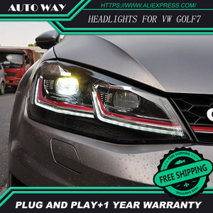 Image 1 - Car Styling H7 Head Lamp case for VW Golf7 Golf 7 Headlights Golf 7 MK7 2014 2015 LED Headlight DRL Lens Double Beam Bi Xenon