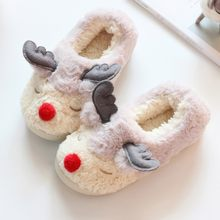 cartoon sheep Winter cooton fur warm home slippers Indoor house Mute Cute Soft pink slippers Plush Ball Women Interior Boots(China)