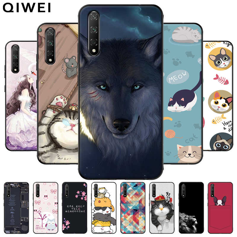 For Huawei Nova 5T Case Cartoon Soft Silicone Phone Back Cover Cases For Huawei Nova 5T Case Nova5t 5 t Black Bumper Shell Coque