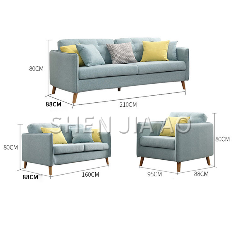 1PC Single Position Modern Fabric Sofa Apartment Living Room Leisure Nordic Style Sofa Single Combination Cotton Material Sofa