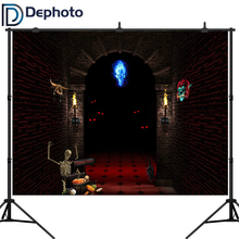 Dephoto Horror Halloween Photography Backdrops Haunted House Party Background Dark Night vinyl Photo Studio Shoot Props interior room photography backdrops 3x5m vinyl print photo background for wedding party studio photo shoot vinyl c 0742