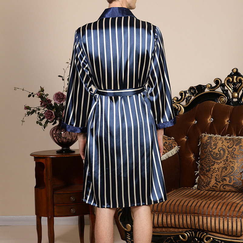 Camisola masculina listrada plus size, pijama de