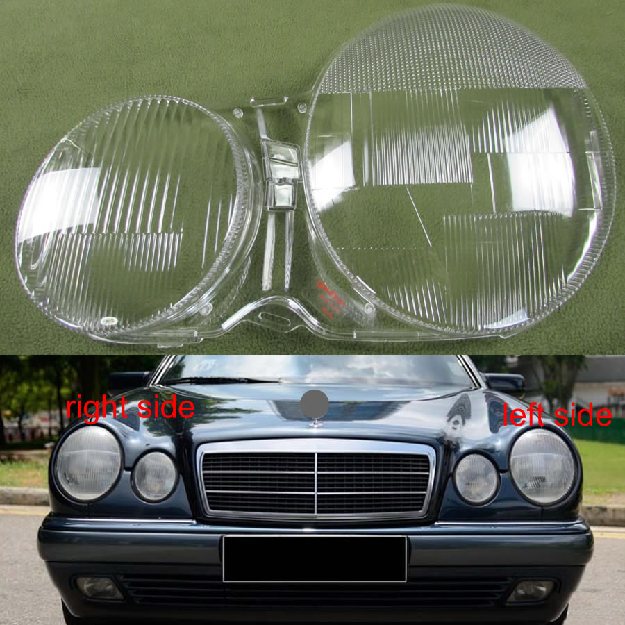 2pcs Front Headlight Cover For MERCEDES Benz E CLASS W210 E320 E350 1996-2003