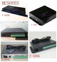 T-100K/T-300K sd-карта онлайн-T-500K полноцветный светодиодный пиксельный модуль контроллера T600K RGB RGBW 8 портов ws2811 ws2801 ws2812b