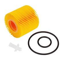 Бренд Лидер продаж Восстановленный бумажный масляный фильтр двигателя подходит для Toyota AURIS 04152-37010 04152-YZZA6 желтый авто аксессуары