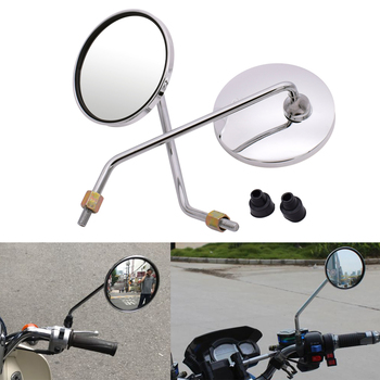 For BMW K1200S k 1200 r K1200 S K1300S/R/GT R1200ST Motorcycle rearview mirror round mirror motorcycle long stem accessories image