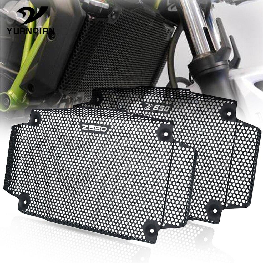 Für Kawasaki Z650 Z 650 2017 2018 2019 2020 Aluminium Motorrad Heizkörper Schutzhülle Guards Kühlergrill Abdeckung Protecter