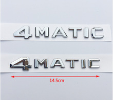 1x ABS 4MATIC Badge Car Rear Emblem Sticker for Mercedes Benz W117 Cla45 W205 C63 W212 E63 W207 W176 A45 X156 Gla45 AMG Styling