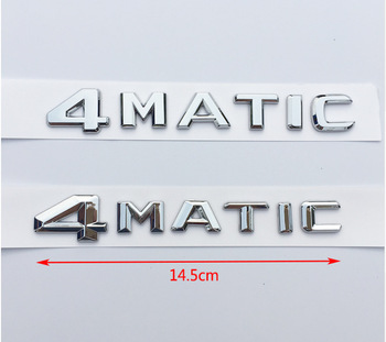 1x ABS 4MATIC Badge Car Rear Emblem Sticker for Mercedes Benz W117 Cla45 W205 C63 W212 E63 W207 W176 A45 X156 Gla45 AMG Styling image