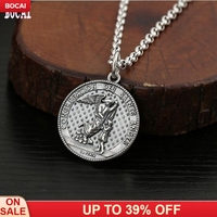 S925 sterling silver jewelry creative retro Thai silver beautiful angel guardian fashion round silver pendant