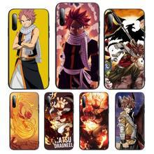 Anime Fairy Tail Natsu Dragneel Fire Phone Case For Huawei P Y Nova mate Y6 9 7 5 prime mate20 lite 3E 3I Cover Fundas Coque