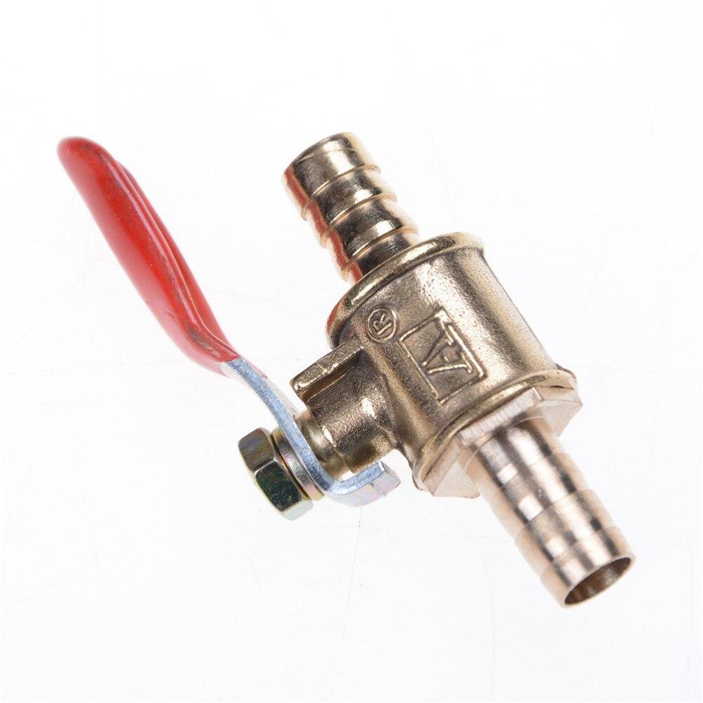 6mm  Hose Barb Inline Brass Water//Air Gas Fuel Line Shut-off Ball Valve UKN WD