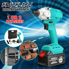 цена на 88V 10000mAh Battery Brushless Electric Wrench Dual Speed Impact Wrench Cordless Rechargeable Electric Impact Drill Power Tools