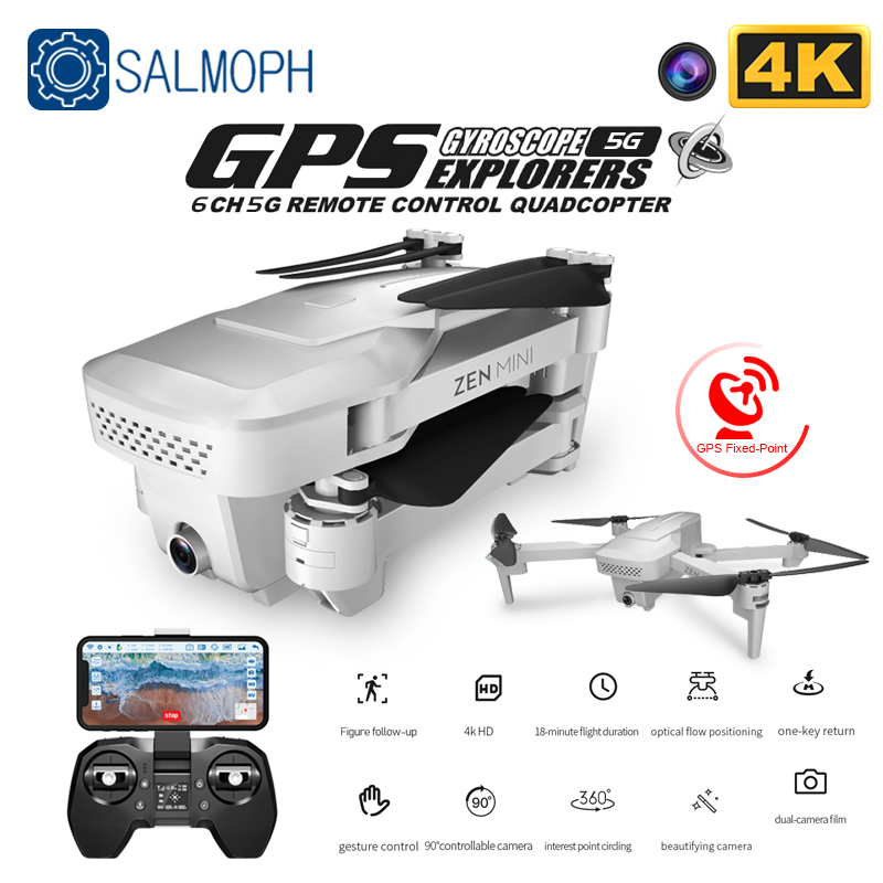 Visuo Xs818 Zen Mini GPS Drone with Wifi FPV  4K HD Dual Camera Optical Flow RC Quadcopter Follow Me Mini Dron VS  E520S SG907