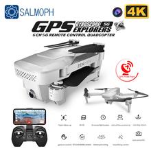 Visuo Xs818 Zen Mini GPS Drone z Wifi FPV 4K HD podwójny aparat optyczny przepływ zdalnie sterowany Quadcopter śledź mnie Mini Dron VS E520S SG907 tanie tanio SALMOPH 4 k hd nagrywania wideo Kamera w zestawie 1 3 0 cali 200M Naprawiono ostrości 6 kanałów App kontroler Pilot zdalnego sterowania