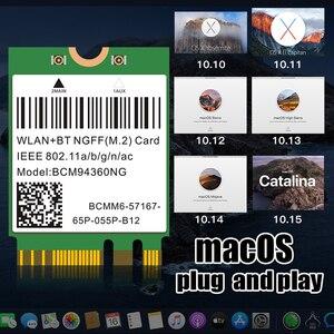 Image 5 - ثنائي النطاق BCM94352Z 867Mbps بلوتوث 4.0 802.11ac BCM94360CS2 NGFF M.2 واي فاي WLAN بطاقة DW1560 لأجهزة الكمبيوتر المحمول ويندوز ماك هاكينتوش