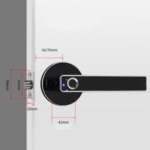 Image 4 - ประตูไฟฟ้าล็อค Biometric ลายนิ้วมือสมาร์ทล็อคสแตนเลส Keyless Security ล็อคลายนิ้วมือ 100 สำหรับความปลอดภัยภายในบ้าน