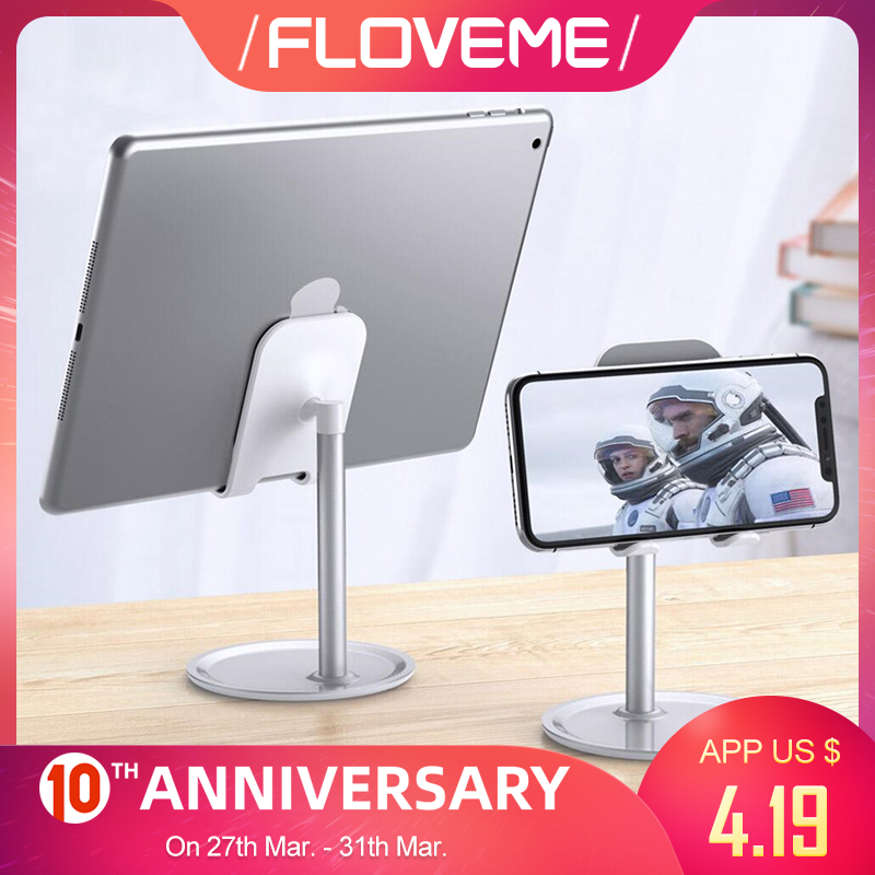 FLOVEME Phone Holder For IPhone XR XS X Universal Tablet Phone Stand For IPad Samsung Smartphone Desk Stand Mount