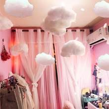 1/2/4 pièces nuage étoile suspendus ornement bricolage pendentif pour enfants chambre fête décoration de mariage (blanc)