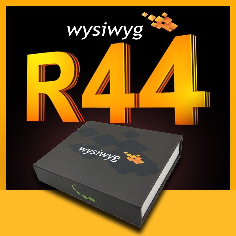 DMX di Illuminazione USB Interfaccia per la Discoteca del DJ Luce Della Fase di Illuminazione USB Interfaccia wysiwyg R44 eseguire dongle