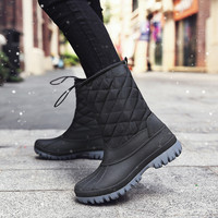Women Boots Winter Shoes Women Snow Boots Elastic Band Plush Inside Female Booties Waterproof Antiskid Size 36 42 Botas Mujer